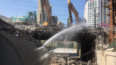 奋战7天,王家门涵洞框架桥拆除  5月10日前北府路将恢复交通