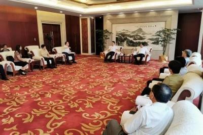 马明龙会见好未来集团CEO张邦鑫一行