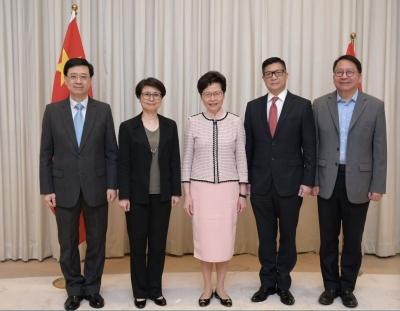 林郑月娥:维护国家安全委员会成立后 将履职尽责 捍卫国家主权