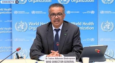 世卫组织总干事:全球各国处于四种不同的疫情状态