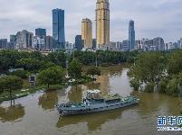 长江中下游洪水洪峰顺利通过汉口江段