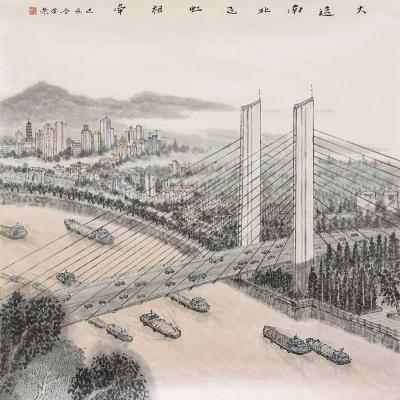丹阳邀请优秀书画家写生  描绘大运河壮丽画卷