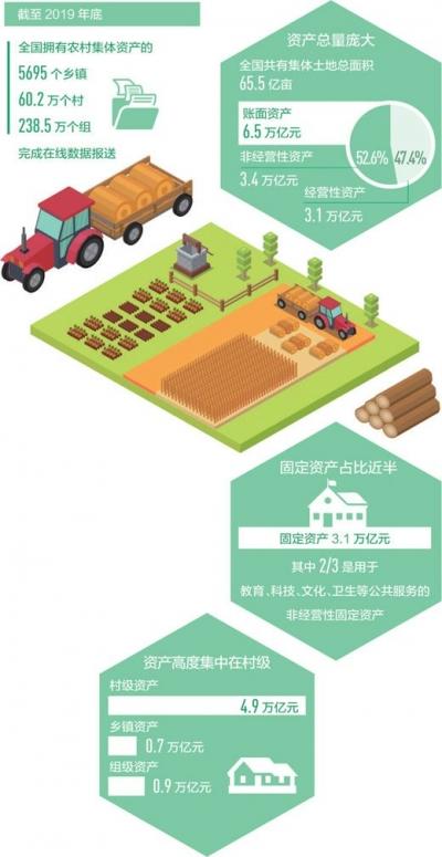 全国农村集体家底,摸清了(经济聚焦)农村集体土地总面积65.5亿亩,账面资产6.5万亿元