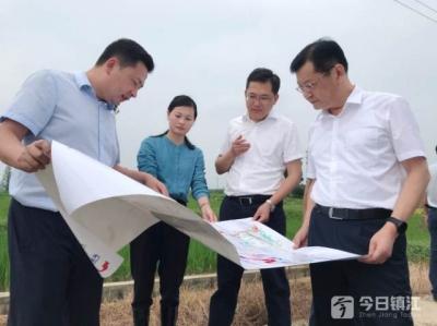 镇江市领导调度洛阳胜利河防汛工作