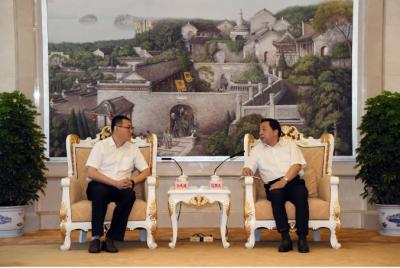 马明龙会见中国城乡控股集团有限公司总经理一行