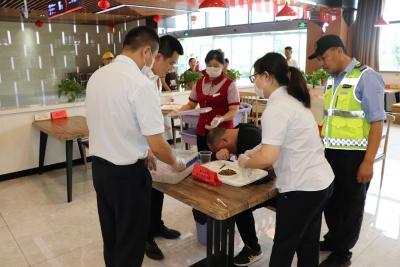 丹阳水晶山服务区组织食物中毒事件处置应急演练
