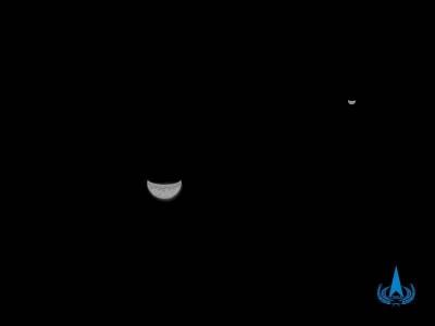 揭秘!天问一号探测器传回的地月合影是怎么拍出来的