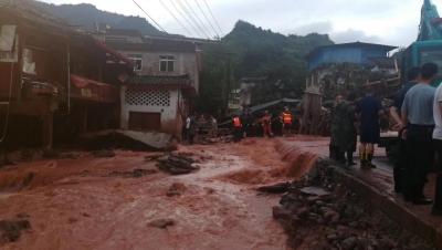 四川雅安暴雨致多地受災嚴重 已致6人死亡5人失聯