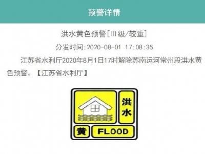 刚刚,江苏省水利厅连续下调多地洪水预警级别