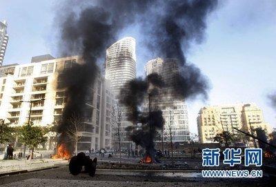 中国赴黎巴嫩维和部队待命帮助贝鲁特港口爆炸救援工作