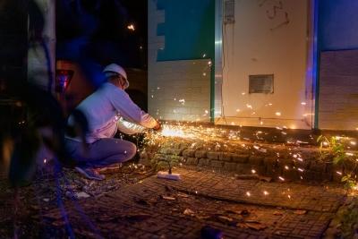 句容千余户居民失电  他们连夜抢修到凌晨