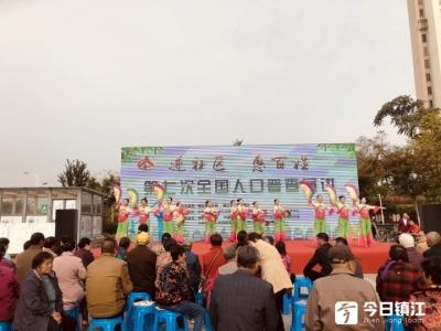 第七次全国人口普查宣讲大型活动今早走进新京江社区