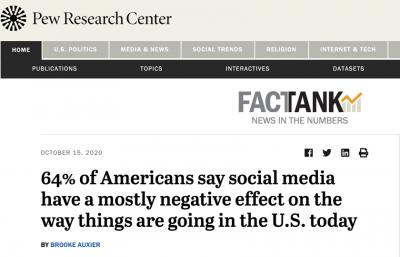 """北美觀察丨美國分化 :社交媒體""""一邊倒"""",網絡虛假與仇恨激化社會矛盾"""