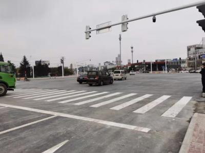 戴家门环岛改造工程完工  周边道路交通已恢复正常