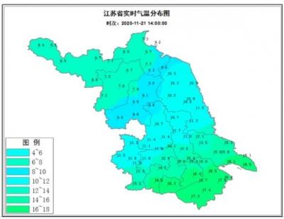 初雪来了!23日江苏西北部地区阴有雨夹雪或小雪