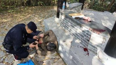男子留下遗书在南山插腹自杀 疼痛难忍报警救助