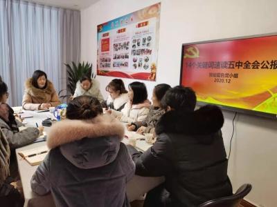 贺幼党小组集体学习十九届五中全会公报