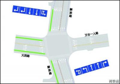 21日起,镇江启用首个公交专用信号灯 驾车通过解放路大西路路口要注意了