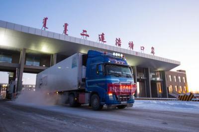 投桃报李!湖北捐赠蒙古国防疫物资从二连浩特口岸出境