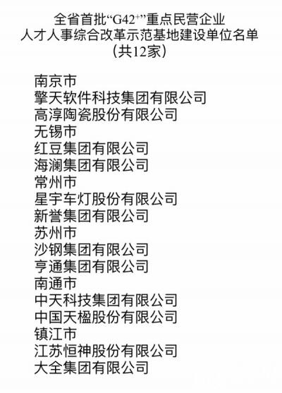 """江苏打造""""G42+""""人才人事综合改革试验区"""