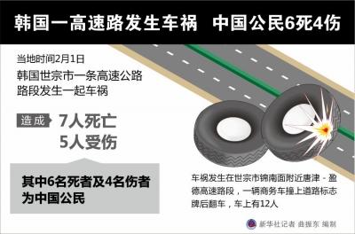 韩国一高速路发生车祸 中国公民6死4伤