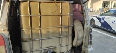 丹徒交警大队查获一辆流动加油车
