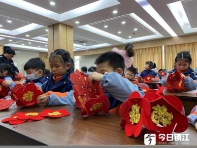 """丁卯街道潘宗社区举行""""巧手做灯笼,欢乐闹元宵""""活动"""
