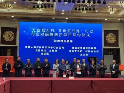 中国人寿财险与丹徒荣炳胜利村签订三年联建计划 村企合作助力乡村振兴