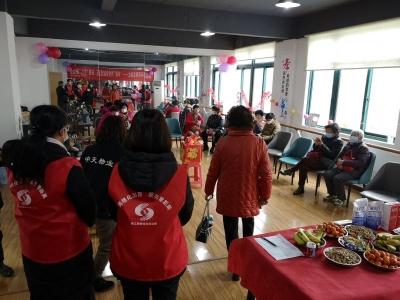 """米山社区开展传党音献党花 庆祝""""三八""""联谊会"""