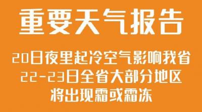 最低氣溫將下降7~8℃!明天夜里起冷空氣影響江蘇