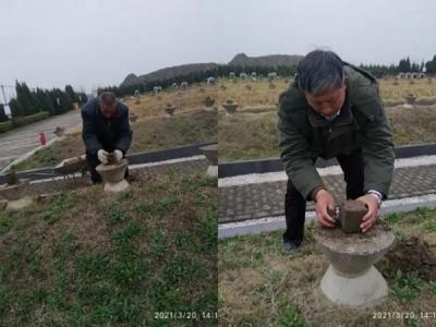 江蘇鹽城一家三代義務守護烈士墓70多年 為330多名烈士找到家人
