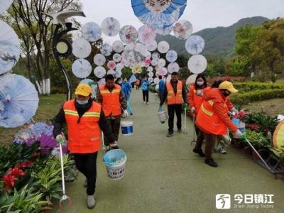 """""""宜地清""""环卫志愿者助力圌山旅游文化节"""