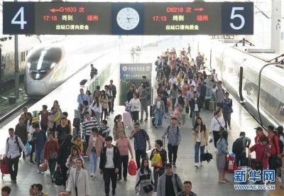 鐵路清明小長假預計發送旅客4970萬人次