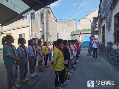 """丹阳访仙镇:""""党史班会""""育新人,红色精神励成长"""