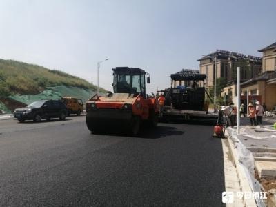 """官塘创新社区""""两路""""建设扫尾  预计本月底验收后开放交通"""
