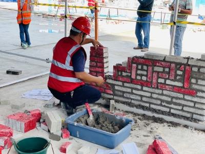 这场职业技能比赛,砌砖!