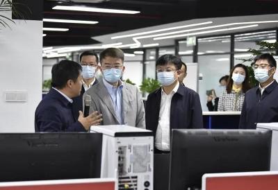 市人大常委会赴京口调研人大工作和大禹山数字文创区规划发展工作